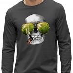 T-shirt manches longues 3D Pixel Evolution TÊTE DE MORT CASINO Réalité Augmentée HOMME taille XXL gris