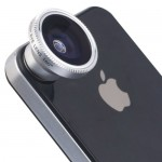 XCSOURCE® Objectif fisheye à 180° couleur argent pour iPhone 4S 4G 4 5 5G 5S 5C 3GS Samsung GALAXY S2 I9100 S3 I9300 S4 I9500 Note I9220 Note2 N7100 Note3 HTC i8190 DC71