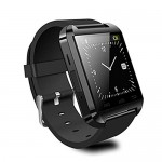 Amonfineshop(TM) Poignet Montre Bluetooth du Téléphone Intelligent pour IOS Android Samsung HTC iPhone Noir